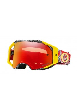 2018 Oakley Airbrake Goggle Dazzle Dyno Red/Yellow- Prizm Torch Iridium Lens