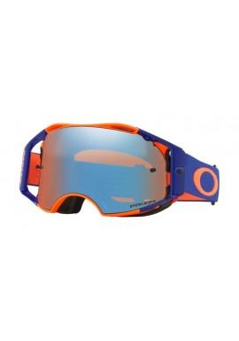 2018 Oakley Airbrake Goggle Flo Orange/Blu- Prizm Sapphire Iridium Lens