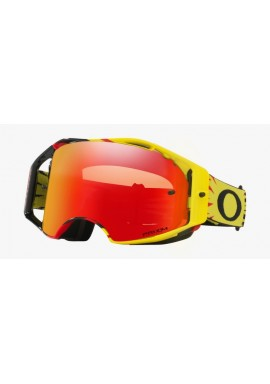 2018 Oakley Airbrake Goggle High Voltage Red/Yellow- Prizm Torch Iridium Lens