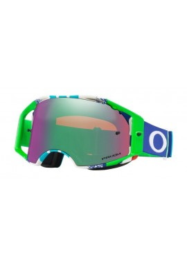 2018 Oakley Airbrake Goggle Pinned Race Blue/Green- Prizm Jade Iridium Lens