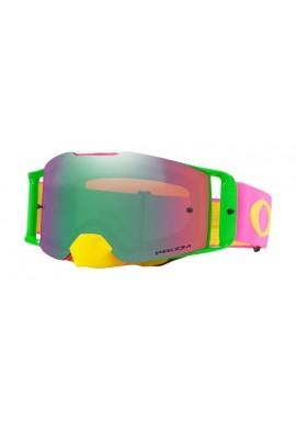 2018 Oakley Front Line Goggle Flo Pink/Yellow- Prizm Jade Iridium Lens