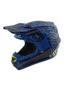 2018 Troy Lee Designs SE4 Youth Factory Blue Helmet