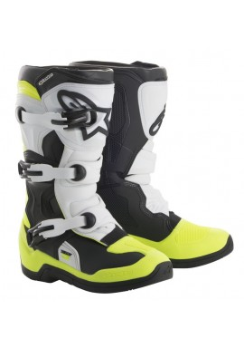 Alpinestars Tech 3S Kids Boots Black/White/Yellow Flo