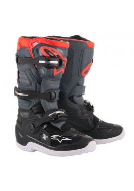 2018 Alpinestars Tech 7S Youth Boots grey/red flo