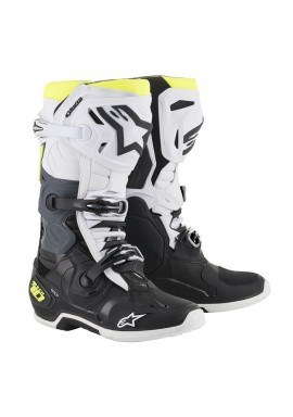 Alpinestars Tech 10 Boots Black/white/flo