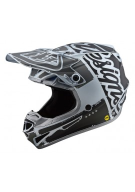 2019 Troy Lee Designs SE4 Polacrylite Factory silver Motocross Helmet