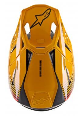 2020 Alpinestars Supertech M10 Motocross Helmet - Black Carbon Orange Matt