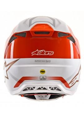 2020 Alpinestars Supertech M8 Motocross Helmet - Orange Fluo