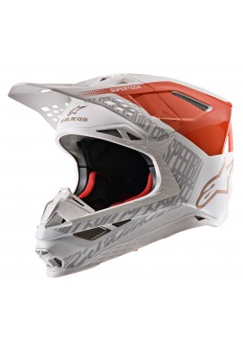 2020 Alpinestars Supertech M8 Motocross Helmet - Orange Fluo