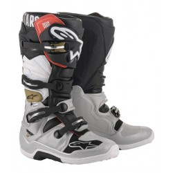 Alpinestars Tech 7 Boots silver/white/gold
