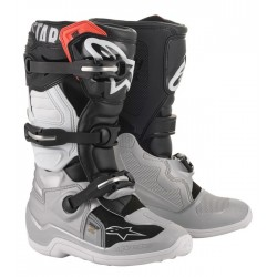 Alpinestars Tech 7S Youth Boots Black/White/silver/gold