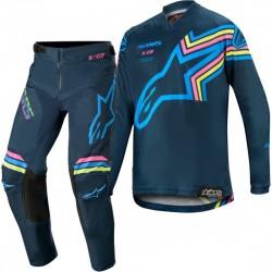 2020 Alpinestars Kids Braap Aqua Flo Pink Motocross Kit