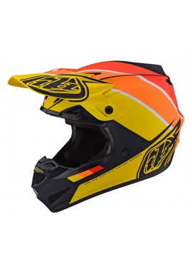 2019 Troy Lee Designs SE4 Polacrylite Beta navy/yellow Motocross Helmet
