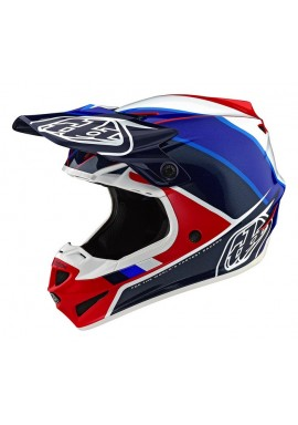 2019 Troy Lee Designs SE4 Polacrylite Beta Red/Blue Motocross Helmet