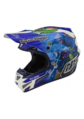 TROY LEE DESIGNS 19FALL SE4 COMPOSITE HELMET MALCOLM SMITH BLUE