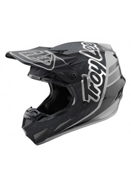 TROY LEE DESIGNS 19FALL SE4 CARBON HELMET SILHOUETTE BLACK/SILVER