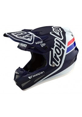TROY LEE DESIGNS 19FALL SE4 CARBON HELMET SILHOUETTE BLUE/WHITE