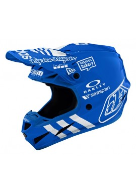 TROY LEE DESIGNS SE4 COMPOSITE HELMET LIMITED EDITION ADIDAS TEAM BLUE