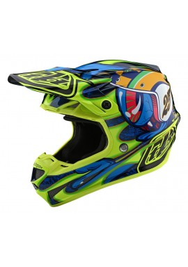 TROY LEE DESIGNS 2020 SE4 COMPOSITE HELMET EYEBALL NAVY/YELLOW