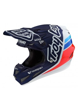 TROY LEE DESIGNS 2020 SE4 COMPOSITE HELMET SILHOUETTE TEAM NAVY