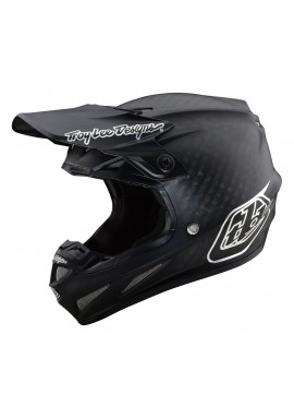 TROY LEE DESIGNS SE4 CARBON HELMET MIDNIGHT BLACK/CHROME