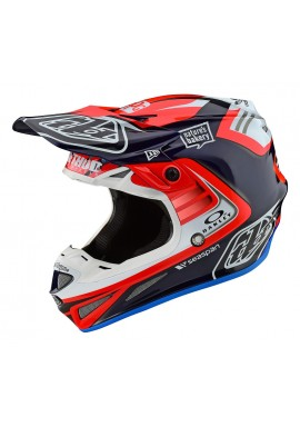 TROY LEE DESIGNS SE4 CARBON 2020 HELMET FLASH BLUE/RED