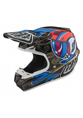 TROY LEE DESIGNS 2020 SE4 CARBON HELMET EYEBALL BLACK/RED