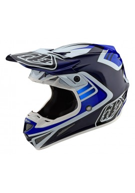 TROY LEE DESIGNS 2020 SE4 CARBON SPRING HELMET FLASH BLUE/WHITE