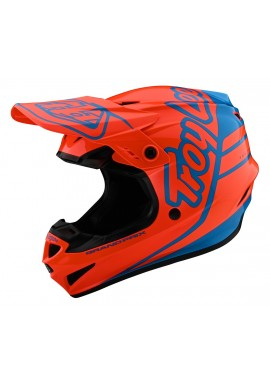 TROY LEE DESIGNS 2020 GP HELMET SILHOUETTE ORANGE/CYAN
