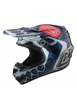 TROY LEE DESIGNS 2020 SE4 POLYACRYLITE 2020 HELMET SKULLY SILVER