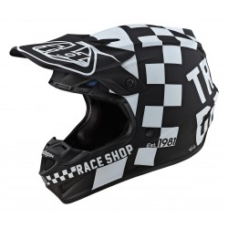 TROY LEE DESIGNS 2020 SE4 POLYACRYLITE HELMET CHECKER BLACK/WHITE