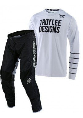 2020 Troy Lee Designs TLD GP AIR PINSTRIPE Motocross Gear White Black