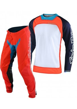 2020 Troy Lee Designs BOLDOR TLD MX SE Pro Motocross Gear Orange Navy